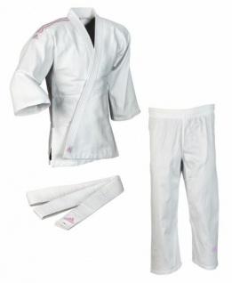 Judoanzug Adidas Club J350 weiß mit pinken Schulterstreifen