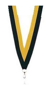Medaillen Band gelb und schwarz