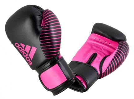 adidas Boxhandschuh Competition Leder schwarz pink 10 OZ