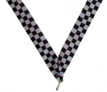 Medaillen Band schwarz/weiss Racing