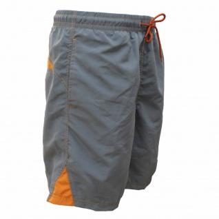 Badehose - Schwimmhose Ben grau/orange (Größe: S)