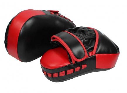 Handpratzen schwarz-rot curved