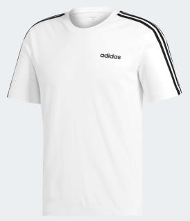 adidas T-Shirt weiß mit schwarzen Schulterstreifen