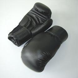 Boxhandschuhe Carbonoptic schwarz - Vorschau 1