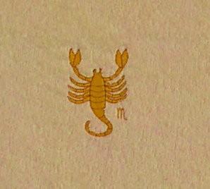 Frotteetuch hellgelb mit Sternzeichen Skorpion - Vorschau 2