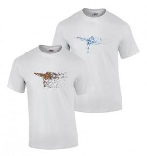 T-Shirt bedruckt mit Kick Flow