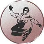 Emblem Snowboard, 50mm Durchmesser - Vorschau 1