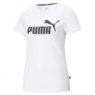 Puma Damen T-Shirt ESS Logo Tee weiß