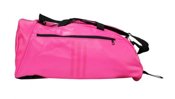 adidas Sporttasche - Sportrucksack pink/silber Kunstleder - Vorschau 2