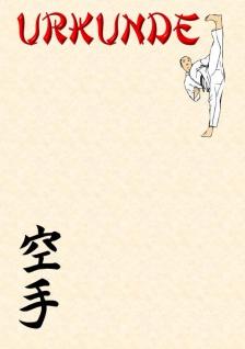 Urkunde Karate