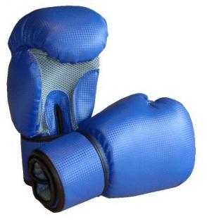 Boxhandschuhe Carbonoptic blau