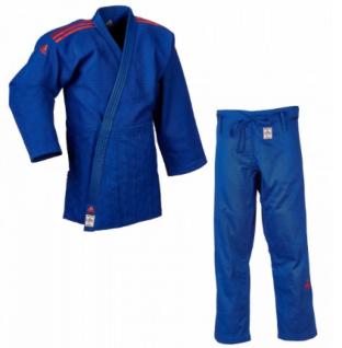 Judoanzug Adidas CHAMPION II IJF blau mit roten Schulterstreifen