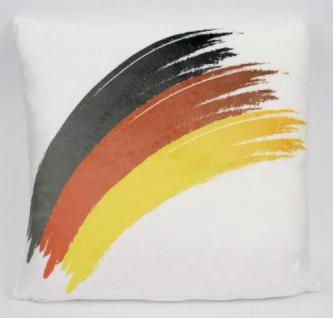 Kissen Deutschland mit gebogener Flagge