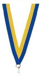 Medaillen Band gelb und blau