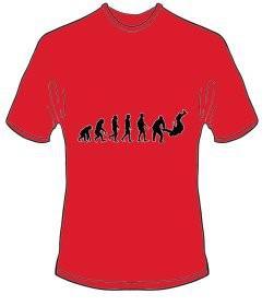 T-Shirt Evolution Judo Farbe rot