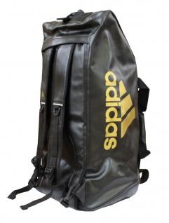 adidas Sporttasche - Sportrucksack schwarz/gold Kunstleder (Größe: L)