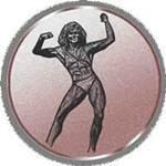 Emblem Bodybuilding-Damen, 50mm Durchmesser