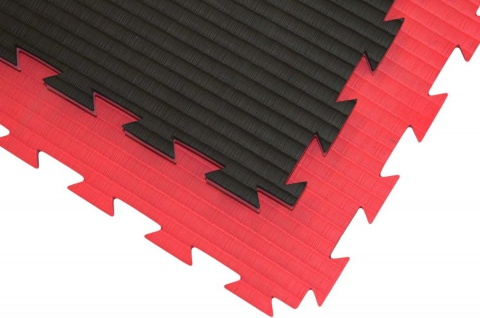 Wendematte Professional schwarz/rot - 100 x 100 x 2, 0cm