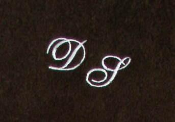 Seiftuch 30x30 cm New York mocca mit Intitialienbestickung weiß 0010