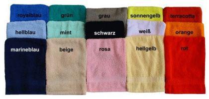 Handtuch aus Frottee mit Namensbestickung - Vorschau 1