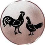 Emblem Hühner, 50mm Durchmesser