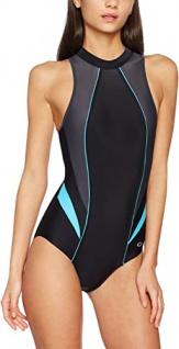 Badeanzug | Schwimmanzug IVANKA III schwarz/graphit/türkis