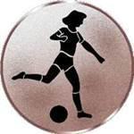 Emblem Damenfußball, 50mm Durchmesser