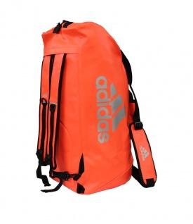 adidas Sporttasche - Sportrucksack orange/silber Kunstleder (Größe: M)