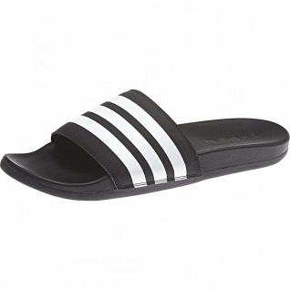Adilette Comfort mit Streifen schwarz/weiß