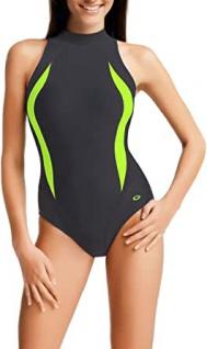 Badeanzug - Schwimmanzug Lena I graphit/grün