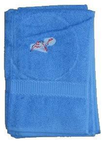 Handtuch aus Frottee mit Bestickung Tauchmotiv - Vorschau 1