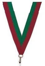 Medaillen Band grün und rot