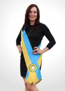 Siegerschärpe blau/gelb