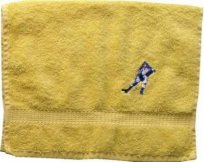 Duschtuch aus Frottee mit Bestickung Eishockey