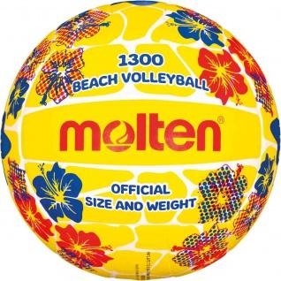 Beachvolleyball gelb mit Blumen