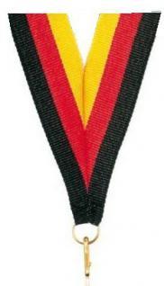 Medaillen Band schwarz/rot/gold, breit 22 mm
