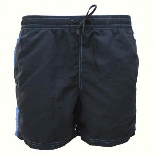 Badehose - Schwimmhose Adrian graphit/blau (Größe: S)