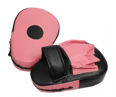 Handpratzen pink-schwarz curved
