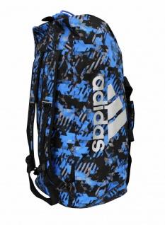 adidas Sporttasche - Sportrucksack Camouflage blau/silber - Vorschau 3
