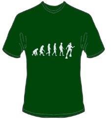 T-Shirt Evolution Tauchen Farbe forestgrün - Vorschau 1