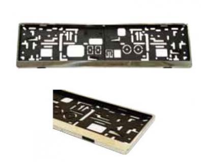 Edelstahl KFZ Kennzeichenhalter / Kennzeichenhalterung / Kennzeichenverstärker