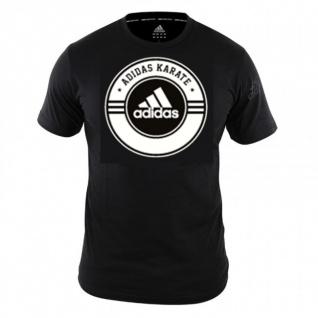 adidas Combat T-Shirt Karate schwarz/weiß
