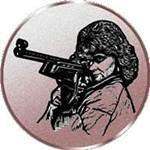 Emblem Schießen/Gewehr/Da, 50mm Durchmesser