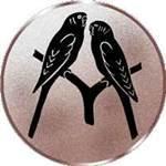 Emblem Papageien, 50mm Durchmesser