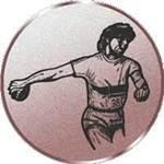 Emblem Diskuswerfen/Damen, 50mm Durchmesser