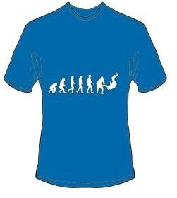 T-Shirt Evolution Judo Farbe royalblau