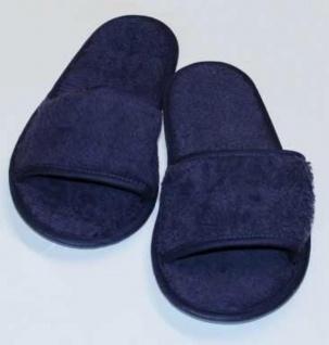 Frottee Slipper blau (Größe: 36-41)