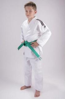 Judoanzug adidas Club J350 weiß mit schwarzen Streifen