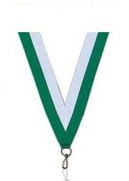 Medaillen Band weiß/grün