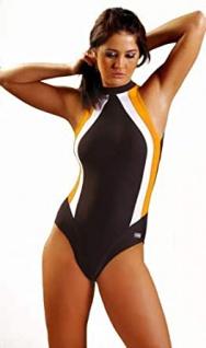 Badeanzug | Schwimmanzug OLIVIA braun/orange/weiß
